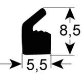 Henkelman dekselrubber 1 mtr 5,5mm