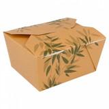 """Garcia de Pou bakje """"Feel Green"""" karton bruin 11,3x9x6,4(h)cm m/flap deksel pak à 50"""