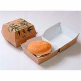 "Garcia de Pou Hamburgerbox jumbo  ""Feel Green"" karton bruin 14x14x8cm pak à 50"