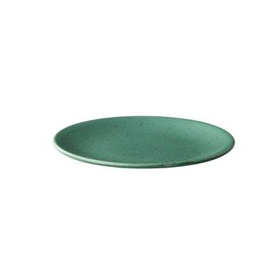 Q Authentic Tinto bord rond mat groen Ø 22,5 cm