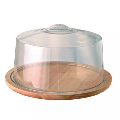 Garcia de Pou houten taartstandaard/taartstandaard Ø33cm H13cm blank hout