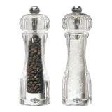 Peper en zoutmolen acryl H14cm set à 2