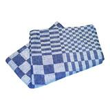 Koksdoek Volendam blauw blok 65x65cm 100% katoen pak á 6