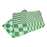Koksdoek Volendam groen blok 65x65cm pak à 6 100% katoen