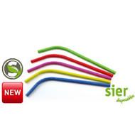 Buigrietje papier FSC assorti 24cm Ø8mm zak à 100 stuks rood/geel/blauw/groen/paars