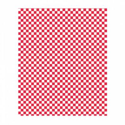 Vetvrij papier 28x34cm rood/wit geblokt pak à 1000 32 grams