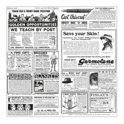 "Vetvrij papier 31x31cm wit met ""newspaper"" opdruk pak à 1000 32 grams"