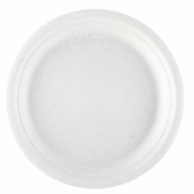 """GP bord plat Ø26cm """"Bionic""""natural wit cellulose pak à 50"""