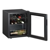 Wijnklimaatkast zwart 15 flessen 51,5(H)x43x48cm