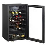 Wijnklimaatkast zwart 33 flessen 84(H)x48x47cm