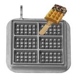 Neumarker wisselplaat gietijzer mini-wafel op stok