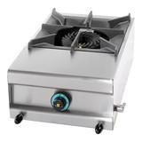 Kooktoestel op aardgas m/1 brander tafelmodel 25(H)x38x60cm