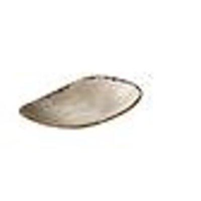 Q Jersey triangle lang bord grijs 21x12cm doos à 6