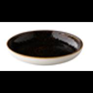 Q Jersey diep bord donkerbruin Ø26,5cm doos à 6