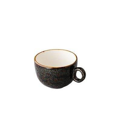 Q Jersey koffiekop stapelbaar donkerbruin 160ml doos à 6
