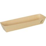 Depa frikandelbakje A16 bruin bamboe papier doos à 100
