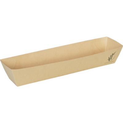 Depa frikandelbakje A16 bruin bamboe papier doos à 400 21x8x3,5(h)cm