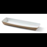 Pistoletbakje lang bruin/wit bamboe papier doos à 300 28x9,5x2,5(h)cm