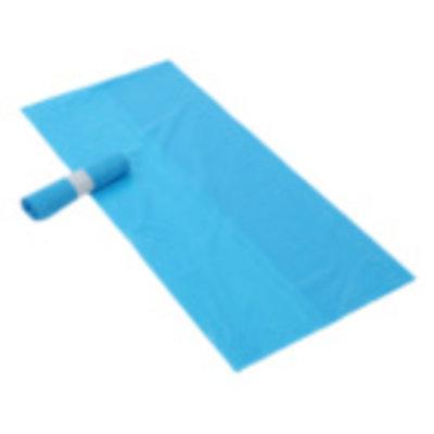 Afvalzak Z70x110x0,025 blauw HDK rol à 25stuks
