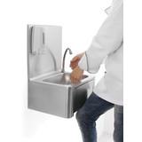 Wasbak met kniebediening en zeepdispenser 400x340x595mm  BxDxH