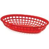 Fastfood mandje rood 22,5x14x4cm LxBxH pak à 6