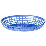 Fastfood mandje blauw 22,5x14x4cm LxBxH pak à 6
