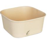 Depa Saladebak vierkant bamboe papier met PP deksel 1250ml  pak à 25