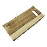 Presentatie/serveerplateau hout rechthoekig 40x21cm