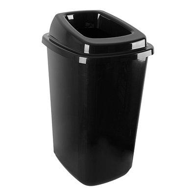Afvalbak zwart kunststof 45 liter