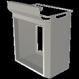 Afvalzakophangbeugel t.b.v. serveerwagen vierkante buis  afm: 271x391x515mm