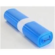 Afvalzak Z80x110x0.025my blauw HDPE rol à 20 stuks