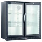 Barkoeler 2 glasdeuren zwart  208liter 250watt merk TopCold
