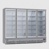 Koelkast 4 glasdeuren zilvergrijs 2025 liter