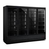 Koelkast 4 glasdeuren zwart 2025 liter