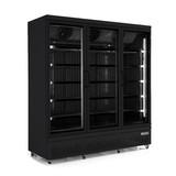 Vrieskast 3 glasdeuren zwart 1450 liter