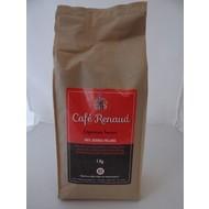 Koffiebonen Café Renaud Red kraftzak à 1 kg. 100% Arabica