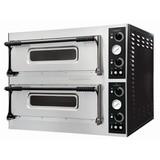 Pizza-oven dubbel met raam t.b.v. 2x4 pizza's Ø32cm