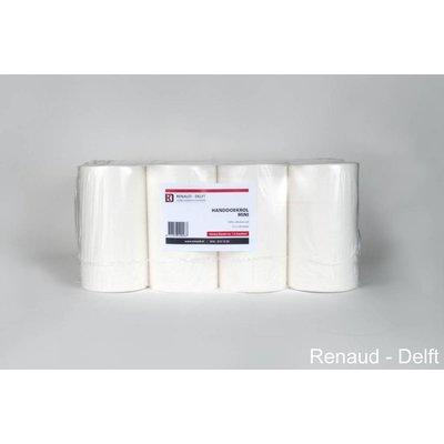 Minirol poetspapier 133x0,20 mtr à 12 rol Cellulose 100% wit