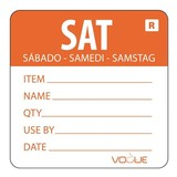 Kleurcodesticker oranje zaterdag rol à 500 stuks