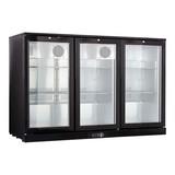 Display koeler zwart 3 deurs 330ltr 230V 300W  1350x520x900 BxDxH