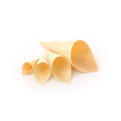 Sier amuse puntzakje bamboo/hout Ø60x115/170mm doos à 75 stuks