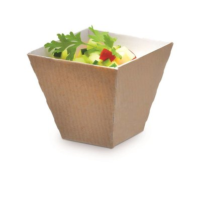 Amuse Kova bakje karton 6cl 50x50x45(h)mm doos à 12x56  = 672 bakjes in een voordeeldoos.