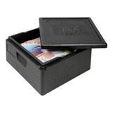 Thermo pizzabox zwart 410x410x330mm