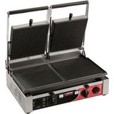 Sirman contactgrill dubbel ribbel m/timer 515x435xs280(h) PDR3000