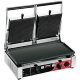 Sirman contactgrill PDL3000 boven ribbel onder glad // m/timer 500x255mm  230V 3100W