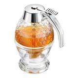 Honingdispenser Deluxe kunststof/glas Ø8cm 20cl