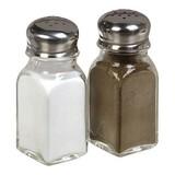Peper- en zoutstrooier rvs/glas set à 2