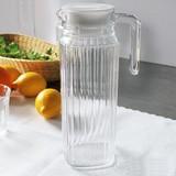 Quadro schenkkan glas m/deksel 1,1ltr Ø9,2cm  23,1(h) cm verpakt per 6