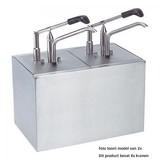 Sauzen-dispenser rvs incl. GN bakken 4 x 1/6GN x 20