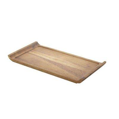 Acacia langwerpige plank 33x17.5x2cm m/opstaande greep korte zijde
